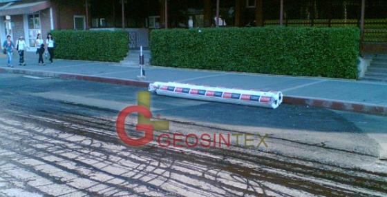 Reabilitare strazi, Botosani cu geotextil pentru reducerea presiunii intre asfalt  - BONARPAVE